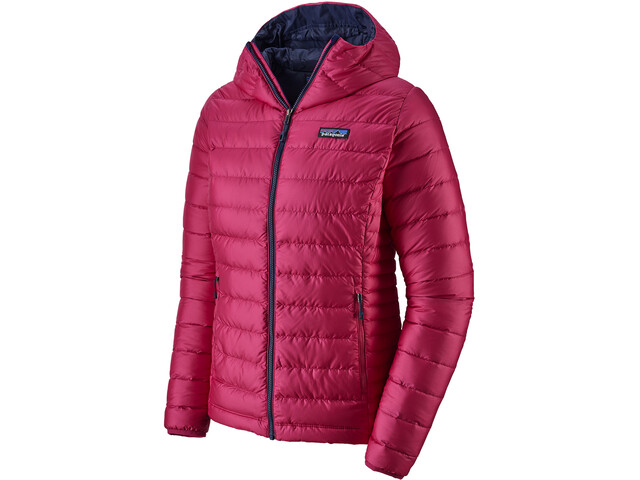 Patagonia Down Sweater Hoody Dam Craft Pink w/Classic Navy